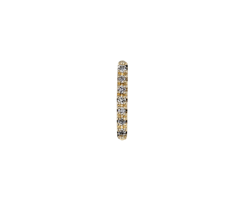 Shortest Gossamer Diamond Staple SINGLE Earring