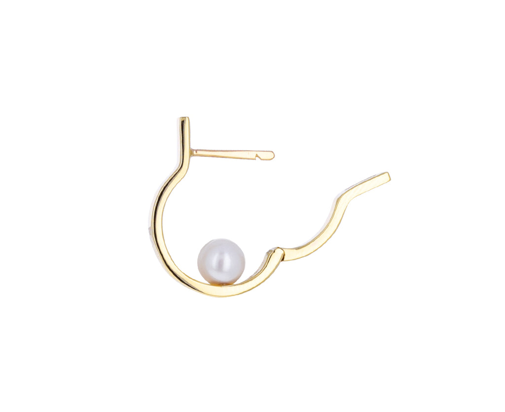 Pearl Tribal SINGLE Earring
