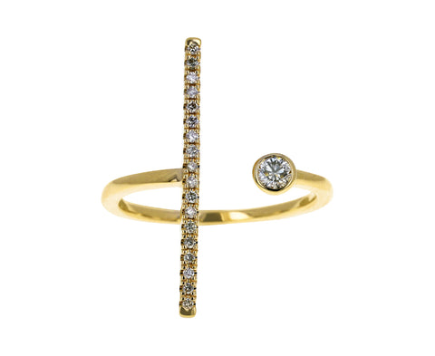Long Gossamer Diamond Ring