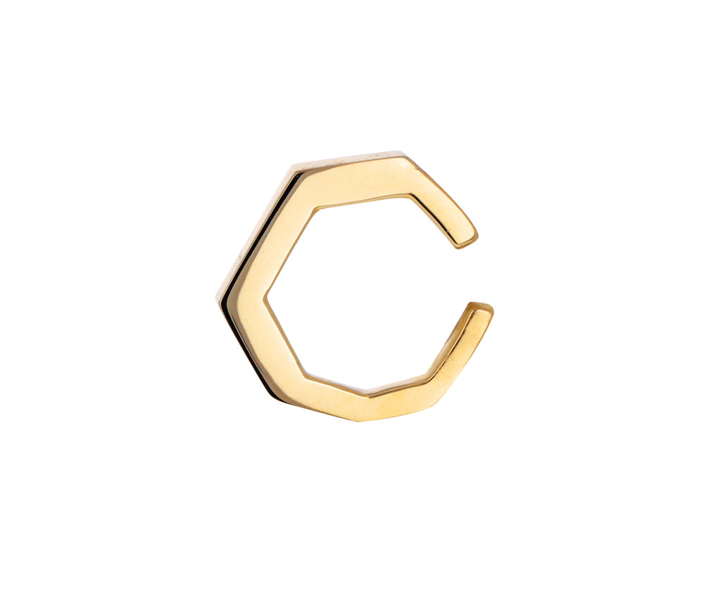 Gold Octagon Ear Cuff
