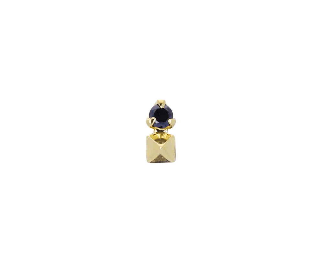 Black Diamond Pyramid SINGLE Stud Earring