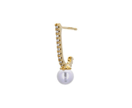 Diamond and Pearl Inner Hook SINGLE Earring