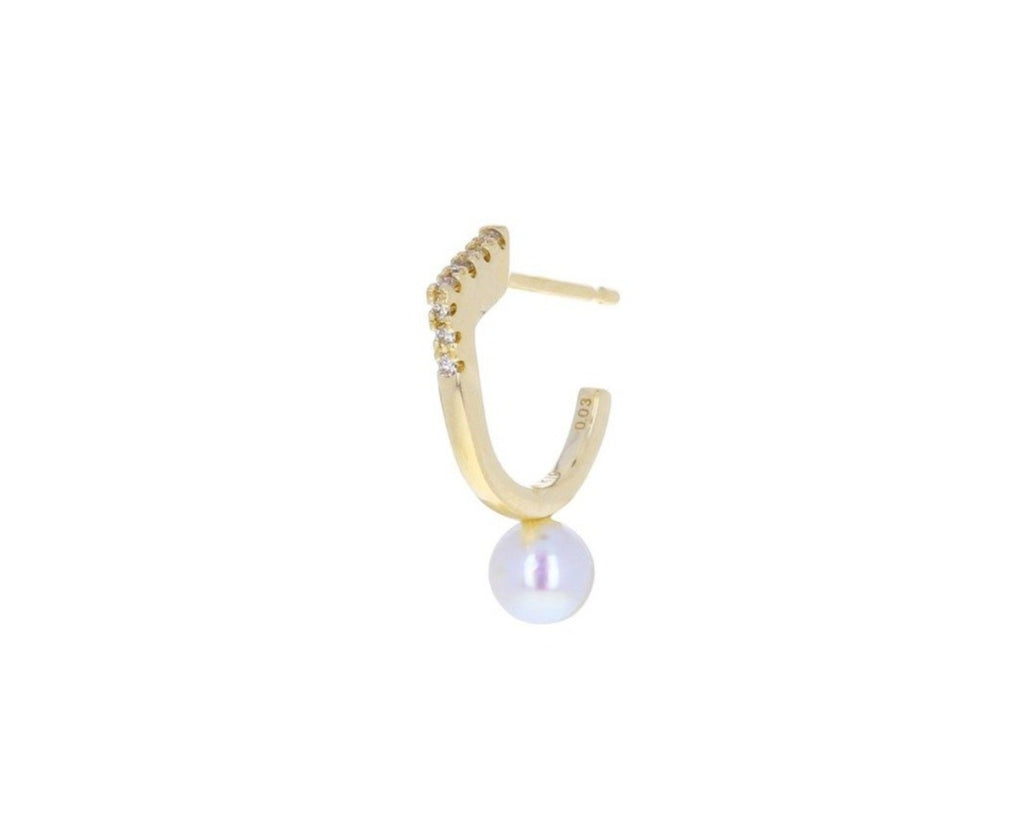 Diamond and Pearl Manhattan SINGLE Earring