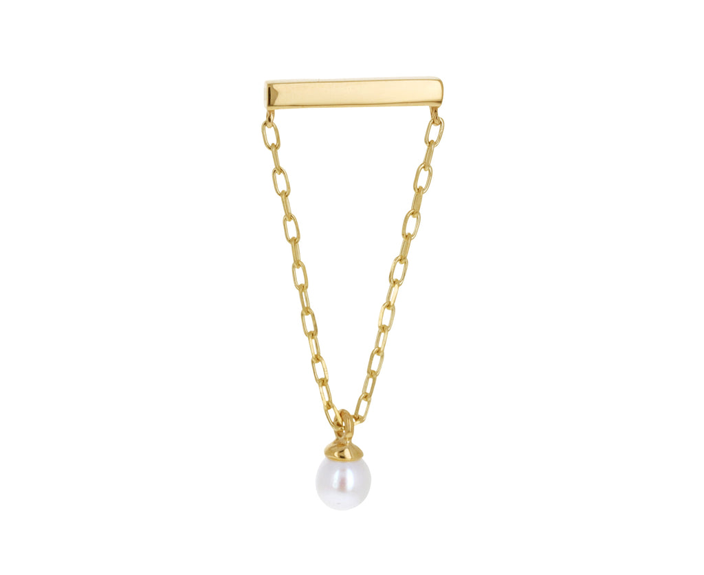 Akoya Pearl Bar Chain SINGLE Earring