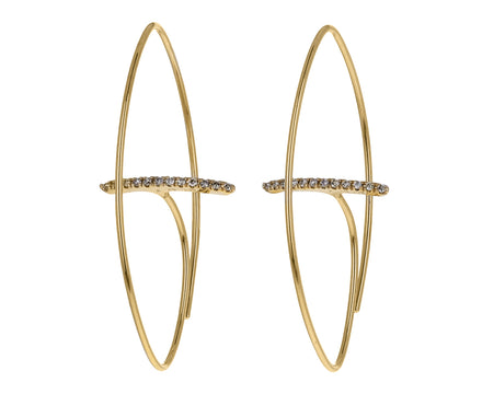 Diamond Gossamer Hoop Earrings