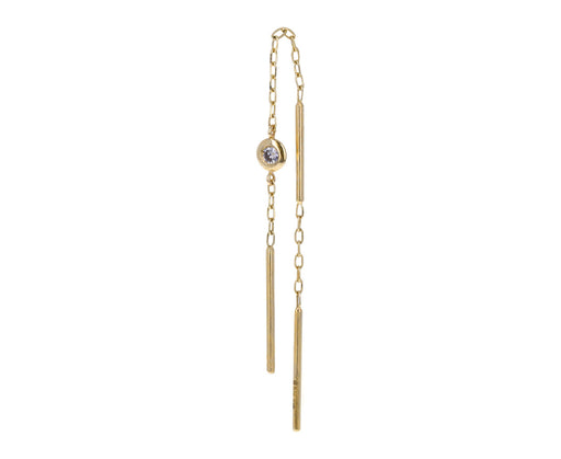 Diamond Toggle Chain SINGLE Earring
