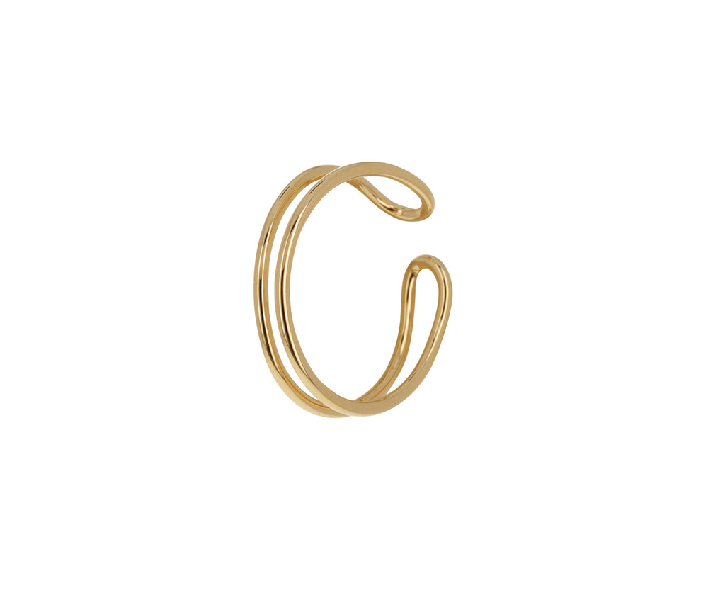 Gold Double Line Cuff