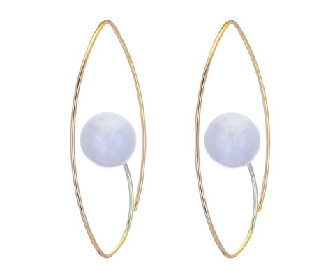 South Sea Pearl Floating Earrings