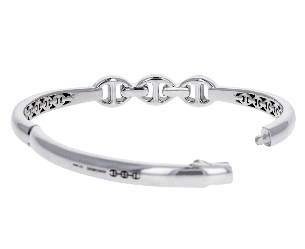 Sterling Silver and Diamond Sirkel Bracelet