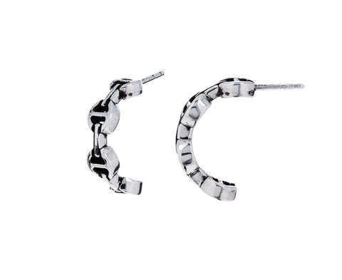 Sterling Silver Open Crescent Earrings - TWISTonline