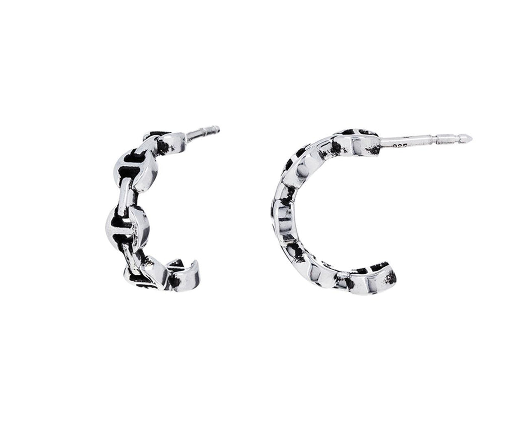 Sterling Silver Micro Crescent Earrings - TWISTonline