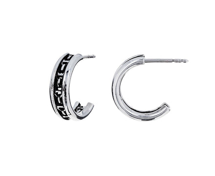 Sterling Silver Hoorsenbuhs Gold Open Hoop Chassis Earrings - TWISTonline