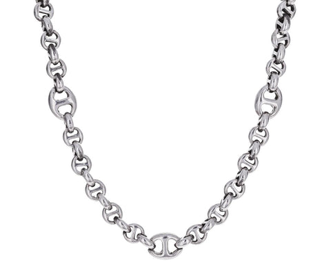 Sterling Silver Open Link Chain  zoom 1_hoorsenbuhs_silver_seven_link_necklace