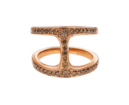 Cognac Diamond Phantom Ring - TWISTonline