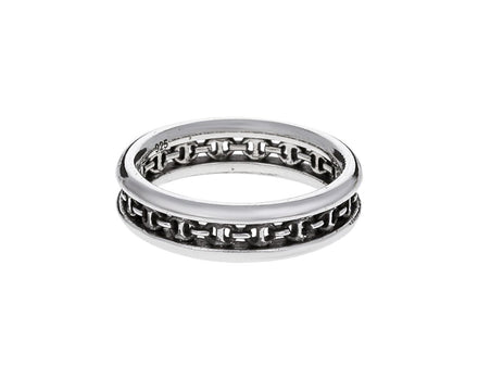 Sterling Silver Chassis Link Ring - TWISTonline