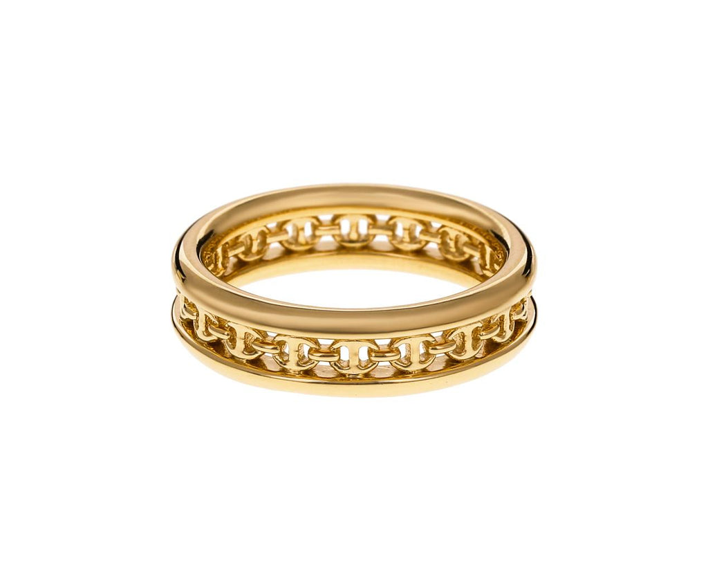 Yellow Gold Chassis Link Ring - TWISTonline