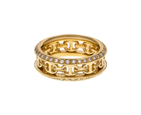 Yellow Gold Diamond Chassis II Ring - TWISTonline