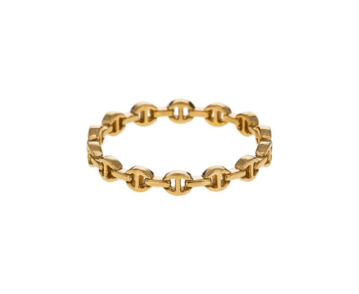 Yellow Gold Micro Dame Tri-Link Ring - TWISTonline