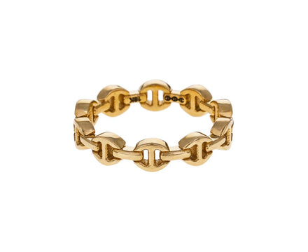 Yellow Gold Micro Tri-Link Dame III Ring - TWISTonline