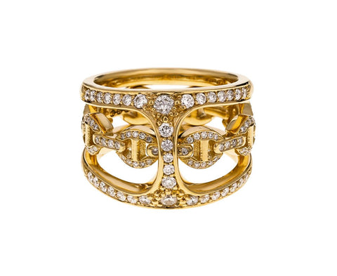 Yellow Gold Diamond Dame Phantom Clique Ring zoom 1_hoorsenbuhs_gold_diamond_dame_phantom_clique_rin