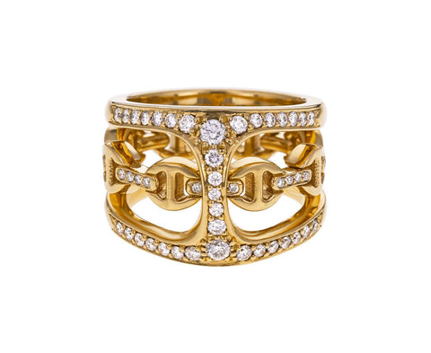 Diamond Phantom Clique Ring with Tri-Link Band - TWISTonline