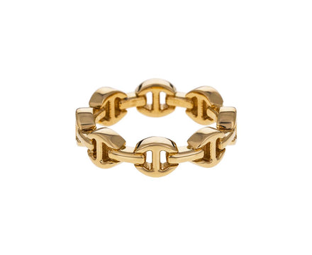 Yellow Gold Tri-Link Dame Ring - TWISTonline