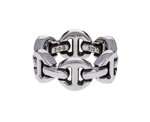 Men's Sterling Silver Brute Classic Tri Link Ring - TWISTonline