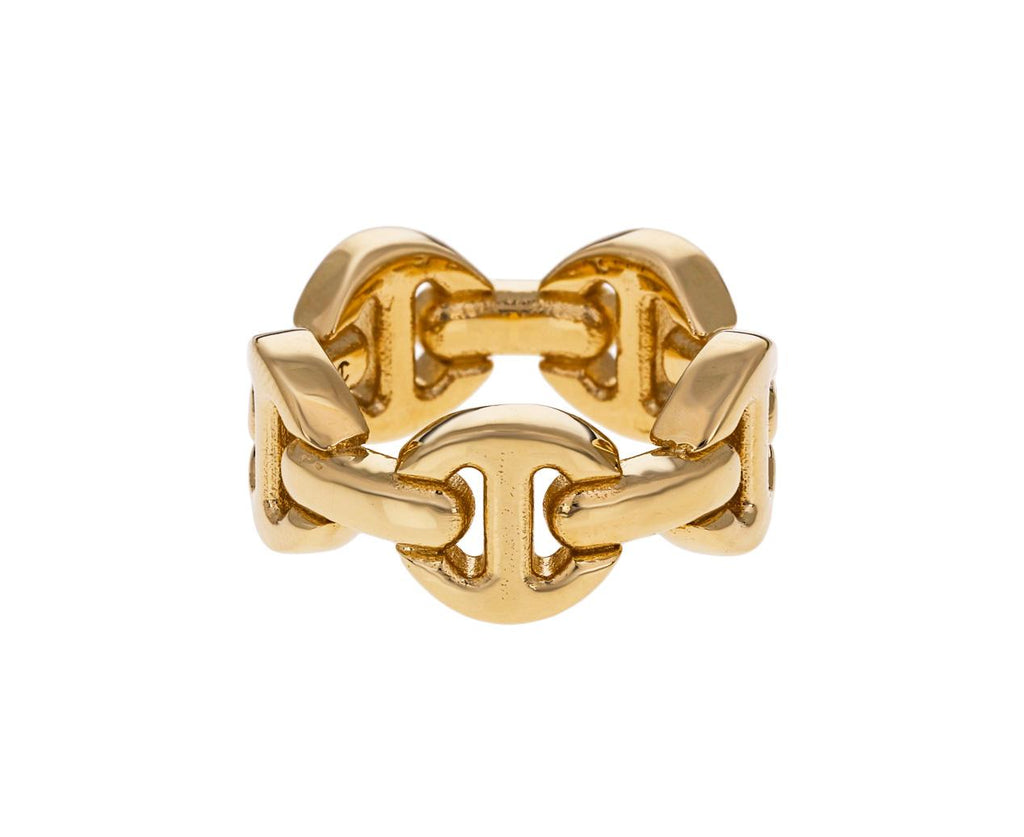Yellow Gold Classic Tri-Link Dame Ring - TWISTonline