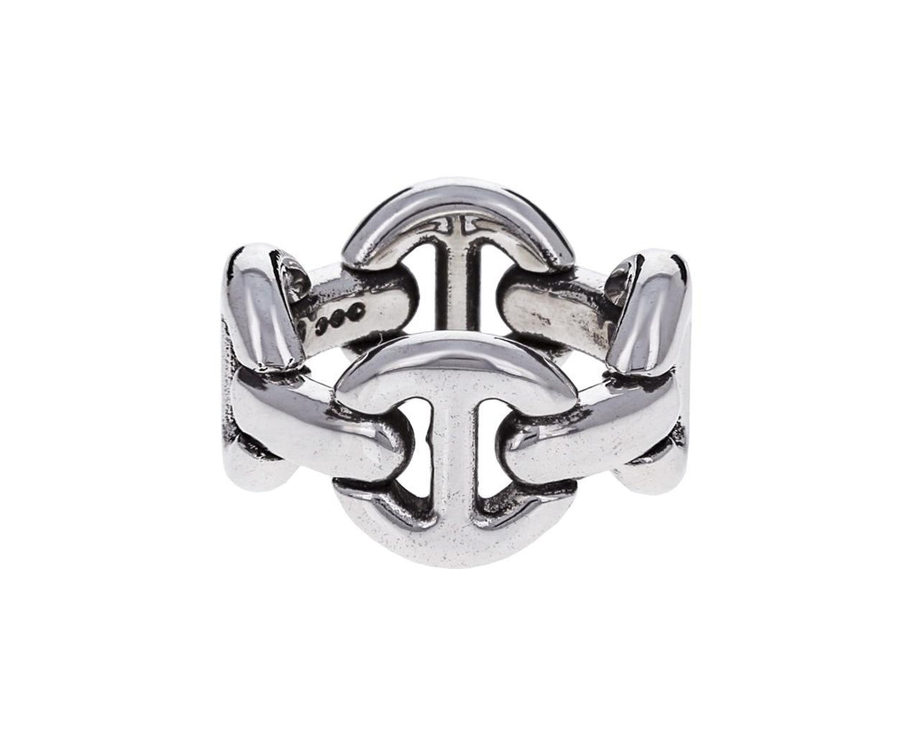 Sterling Silver Quad Link Ring zoom 1_hoorsenbuhs_silver_quad_link_ring