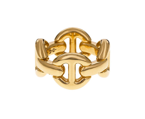 Yellow Gold Quad Link Ring - TWISTonline