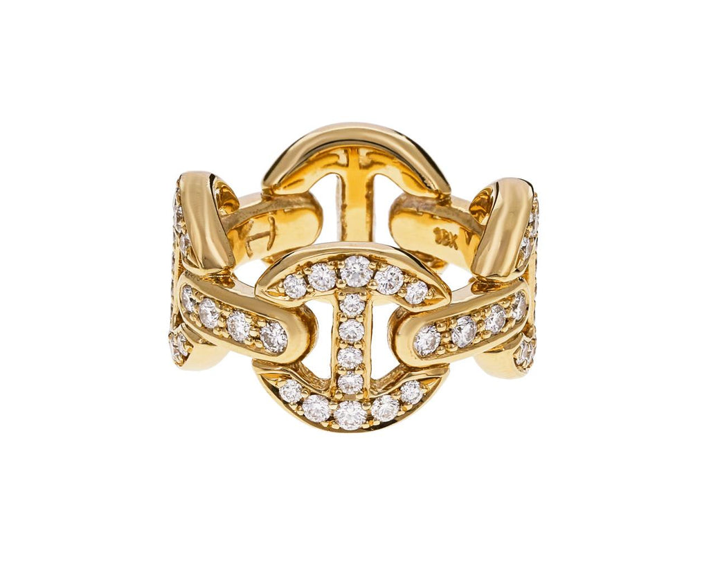 Diamond Tri-Link Ring zoom 1_hoorsenbuhs_gold_diamond_quad_link_ring