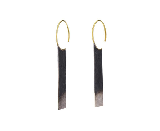 Gold and Silver Ombre Rectangle Earrings - TWISTonline