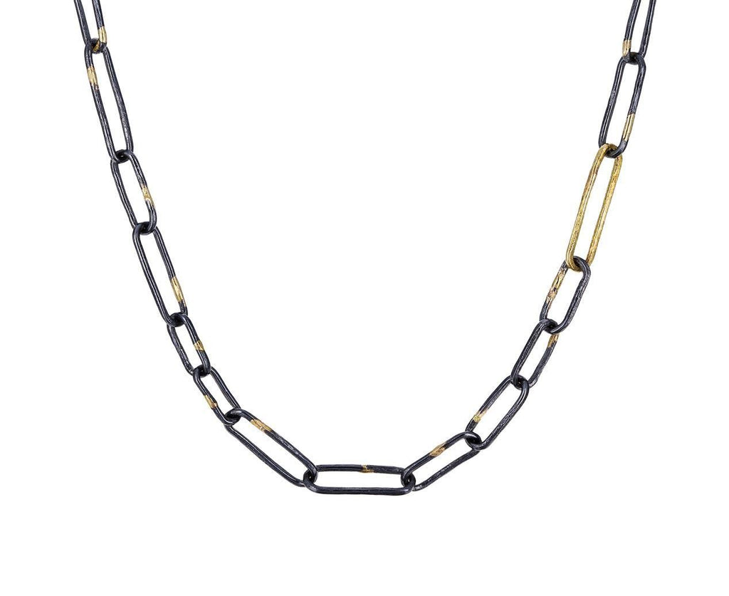 Gold and Silver Link Necklace zoom 1_sophie_hughes_gold_silver_baby_links_necklace