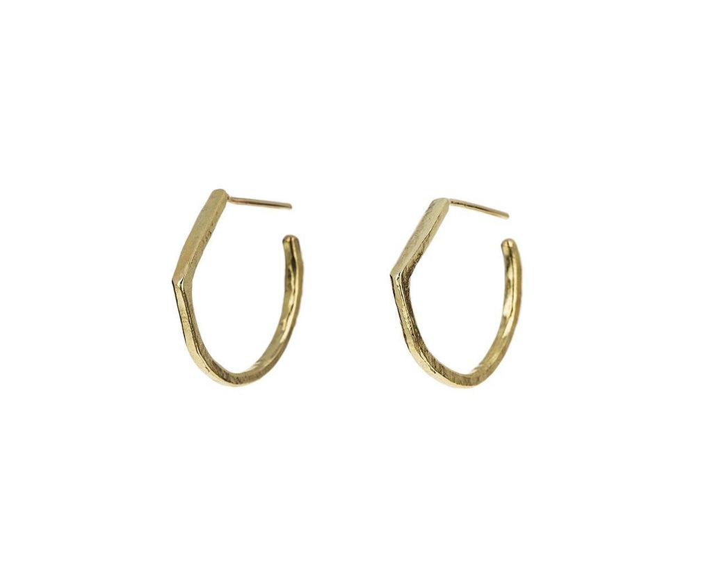 Gold Tilt Hoop Earrings - TWISTonline