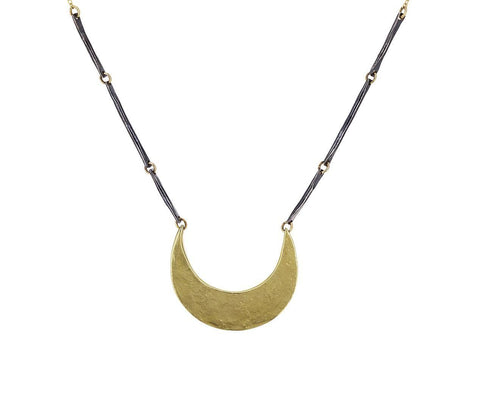 Two-Tone Crescent Necklace - TWISTonline