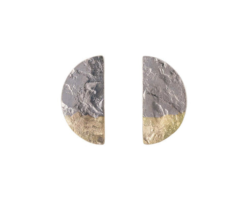 Fused Half Moon Post Earrings - TWISTonline