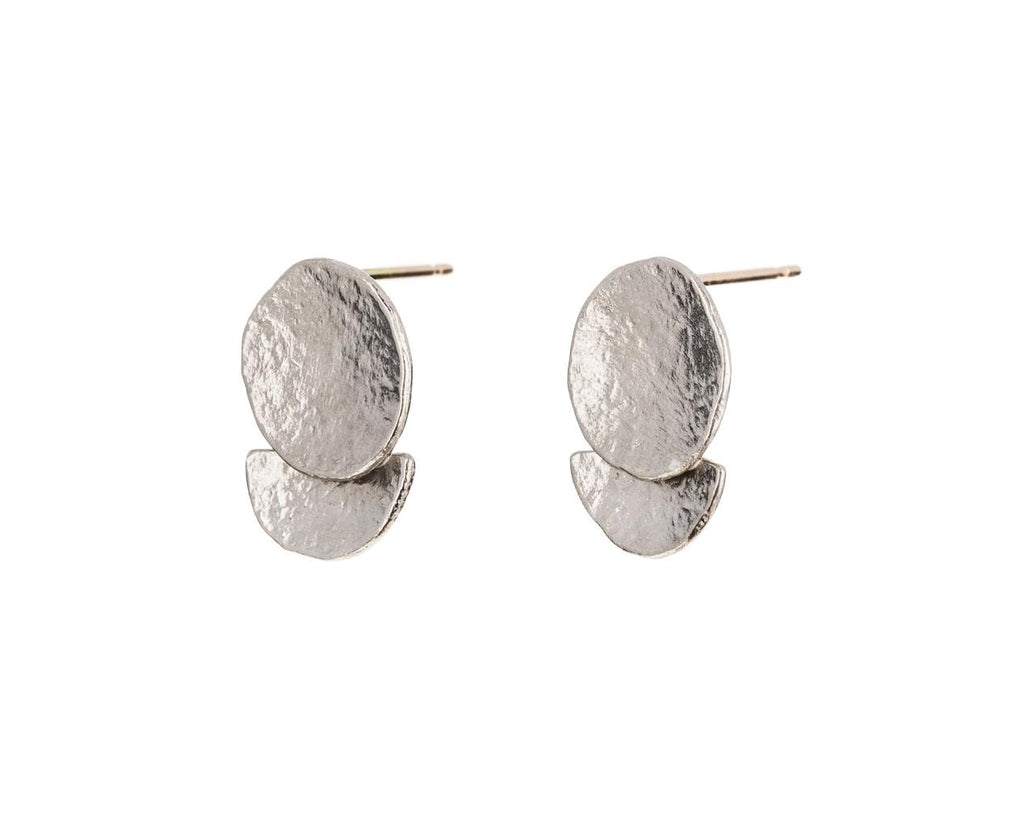 Moon Over Half Moon Post Earrings - TWISTonline