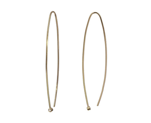 Long Diamond Wire Earrings - TWISTonline