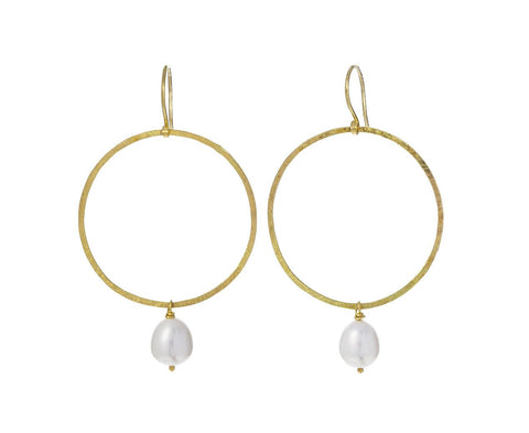 Pearl Hoop Earrings - TWISTonline