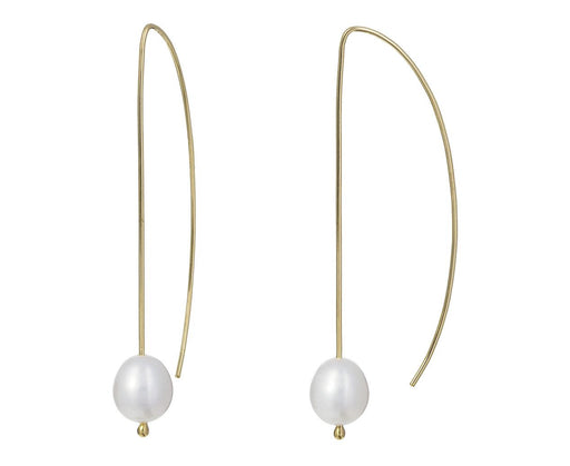 Long Pearl Wire Earrings - TWISTonline