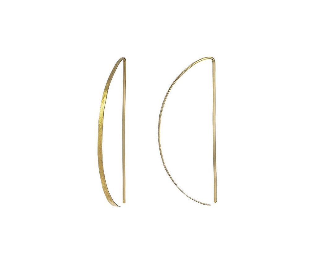 Large Gold 'D' Hoops - TWISTonline