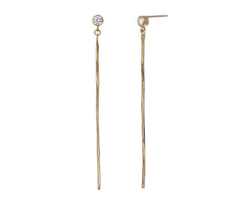 Diamond Bar Earrings - TWISTonline