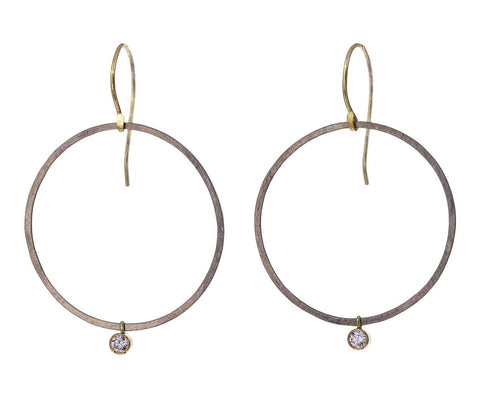 Diamond Dangle Hoop Earrings - TWISTonline
