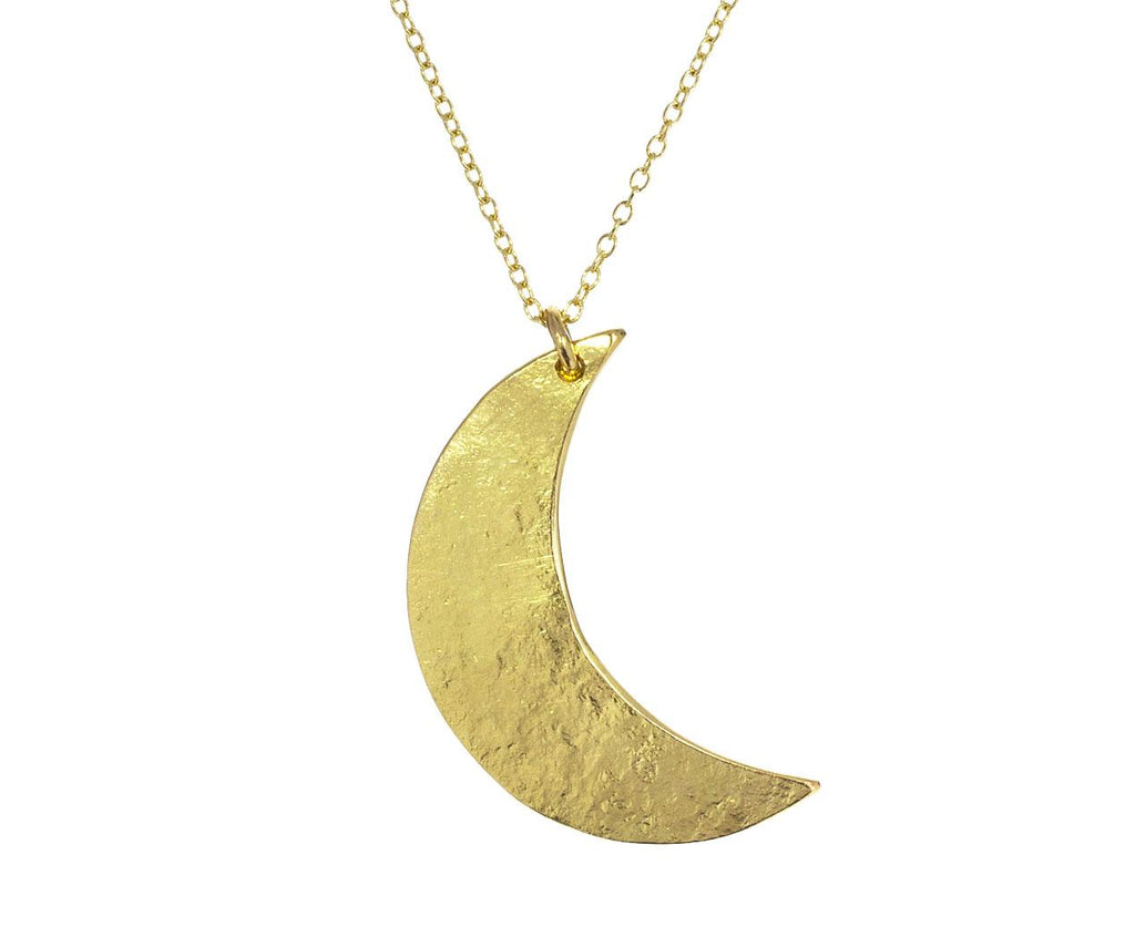 Crescent Moon Pendant Necklace zoom 1_sophie_hughes_gold_crescent_moon_necklace