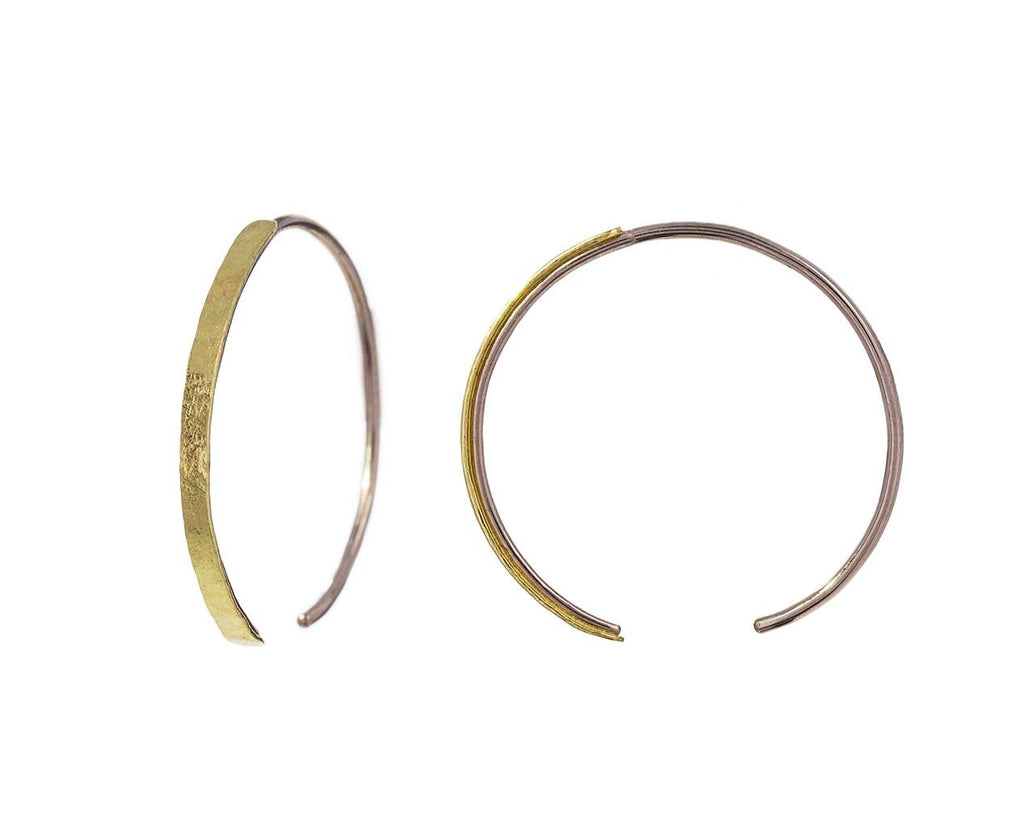 Gold and Silver Talon Hoops zoom 1_sophie_hughes_gold_large_talon_earrings