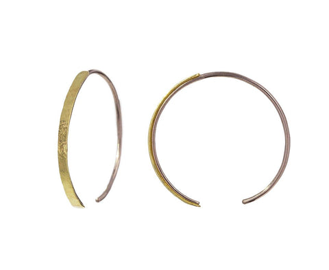 Gold and Silver Talon Hoops - TWISTonline