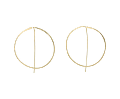 Gold Enso Hoop Earrings - TWISTonline