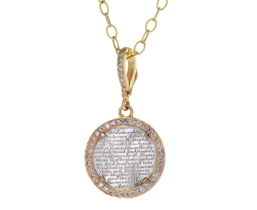 Gold and Diamond Lords Prayer Love Token ONLY