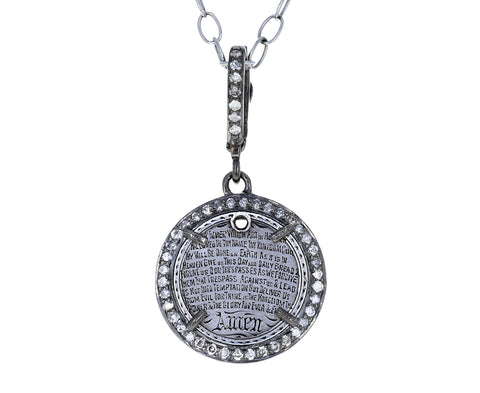 Silver and Diamond Lord's Prayer Token ONLY - TWISTonline