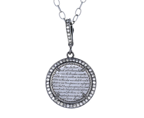 Silver and Diamond Large Lord's Prayer Token ONLY - TWISTonline